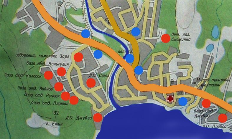 подробная карта джубги
